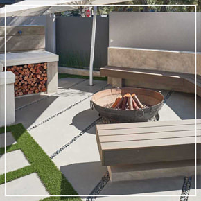 Cemcrete CemPlaster Pavilion Grey Braai Area Seating And Colour Hardener Floor Panels