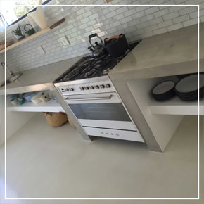 Cemcrete CreteCote Concrete Kitchen Countertops