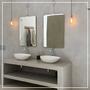 Cemcrete SatinCrete Concrete Bathroom Vanity And Wall