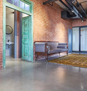 Cemcrete Offices Featured Projects Rosebank Offices CreteCote Nickel Grey